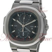 Patek Philippe Nautilus Travel Time Chronograph, Black Dial -...