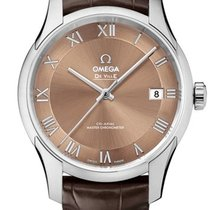 Omega 43313412110001 De VIlle Hour Vision Co-axial Brown