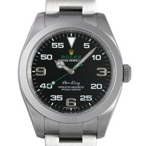 Rolex Air King Black Dial Stainless Steel Men's Watch 40mm...