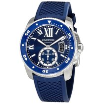 Cartier Calibre Diver Automatic Blue Dial Men's Watch