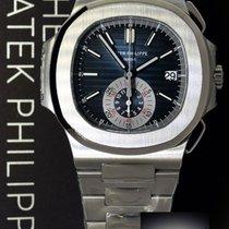 Patek Philippe Mens Nautilus 5980 Chronograph Steel Watch...