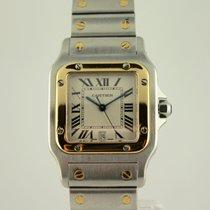 Cartier 1566 Santos Galbee  30mm SS/18k