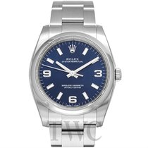 Rolex Perpetual 34 Blue/Steel 34mm - 114200