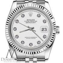 Rolex Mens Rolex 36mm Datejust White Face 18k Gold/ss Jubilee...