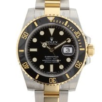 Rolex Submariner 40mm Stainless Steel and 18KYG 116613 Mens Watch