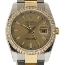 Rolex Datejust 116243 Steel Gold Diamond Champagne Box/Paper/2...
