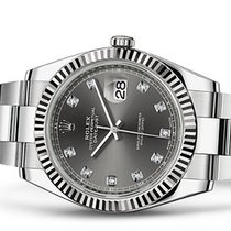 Rolex Datejust 41 Rhodium Diamond Dial