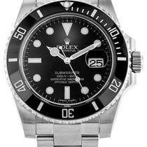 Rolex Submariner 40 Black Dial Dot Markers Oyster Links Men...