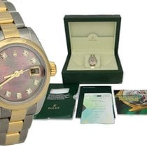Rolex Ladies Rolex Oyster Two Tone Datejust Mother Of Pearl...