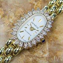 Geneve Luxury  Quartz 14K Gold Swiss Made Vintage Classic ...