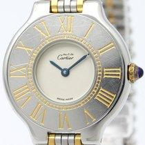 까르띠에 (Cartier) Must 21 Gold Plated Steel Quartz Ladies Watch...