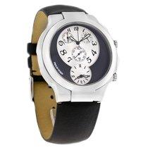 Philip Stein Teslar Mens Dual Time Chrono Quartz Watch 9-CRS3-RB
