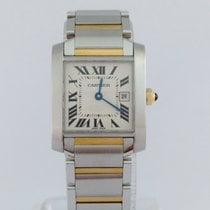 Cartier Tank Francaise Steel & Gold Mid Size. Mint.