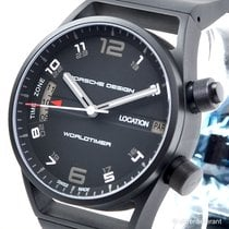 Porsche Design P6750 Worldtimer PVD black NEUWARE + Box + Papiere