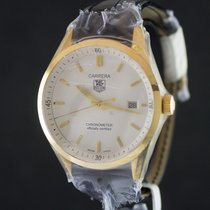 TAG Heuer Carrera 18k Gold White dial Full Set