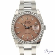 Rolex Datejust 36 Stainless Steel Oyster / Pink / Diamonds NOS