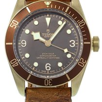 Tudor Heritage Black Bay Bronze Aged Leather Auto Watch...