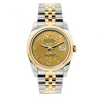 Rolex Datejust Men's 36mm Jubilee Dial Yellow Gold And...