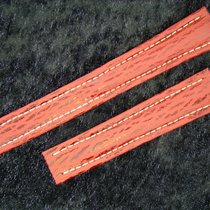 Breitling Haiarmband 19/16mm In Red Roja Rot Für Faltschliesse