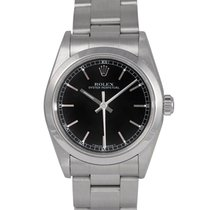 Rolex Oyster Perpetual Midsize Black Baton Dial Ref: 77080