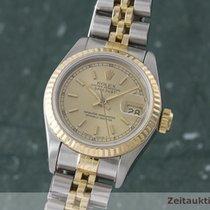 Rolex Lady Oyster Datejust Gold / Stahl Damenuhr Automatik 16173