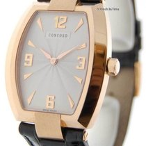 Concord La Scala Tonneau Mens 18k Rose Gold Box/Papers