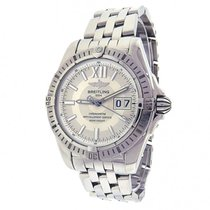 Breitling Windrider Cockpit A49350 Stainless Steel Big Date...
