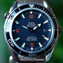 Omega Seamaster Planet Ocean Black Dial Orange Highlights...