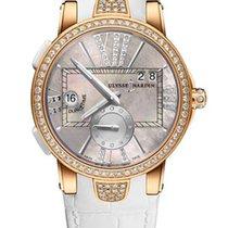 Ulysse Nardin Executive Dual Time 18K Rose Gold & Diamonds...
