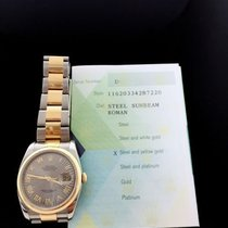 Rolex Datejust Oyster Roman Sunbeam Dial 116203 W/ Papers