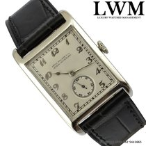 Patek Philippe Rectangular Breguet indexes silver dial white...