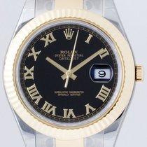 Rolex 116333 DateJust II Yellow Gold & Steel 41mm black...