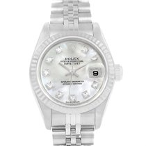 Rolex Datejust Mop Diamond Dial Ladies Watch 79174 Box Papers