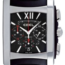 Ebel Brasilia Gents Steel Mens Chronograph Watch 9126m52/53br3...