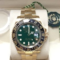 Rolex GMT-Master II 18k Yellow Gold Green Dial Ceramic Bezel 2014