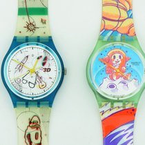 Σουότς (Swatch) Watches Yuri & 3d Swiss Made Excellent...