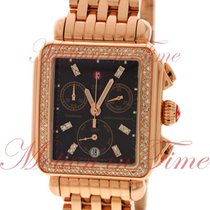Michele Deco Signature, Chocolate Diamond Dial, Diamond Bezel...