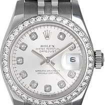 Rolex Ladies Steel & Diamond Datejust Watch 179174 Silver...