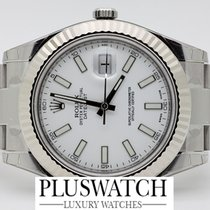 Rolex Datejust 116334 WHITE DIAL 18ct 41mm 2546