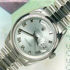 Rolex Day-Date 118206 platin ice blue dial B/P 2003