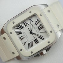 Cartier Santos 100 Automatic - White Rubber - Box &...