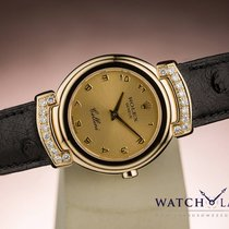 Rolex CELLINI FACTORY DIAMOND LUGS LADY - BOX & PAPERS