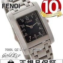 Fendi 【フェンディ】  オロロジ レディース腕時計【中古】  7000L クォーツ シルバー/ステンレス ブラック文字盤