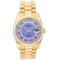 Rolex President Day-Date Men's 18k Gold Watch 118238 Lilac...