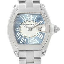 Cartier Roadster Blue Dial Steel Ladies Watch W62053v3