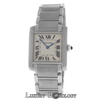 Cartier Authentic Ladies  Tank Francaise 2301 Midsize Steel...