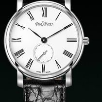 Paul Picot FIRSHIRE EXTRA- FLAT strap skin black dial white...
