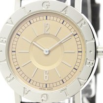 Bulgari Polished  - Steel Quartz Mens Watch Bb33sld (bf304234)