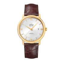 Omega DeVille Prestige Automatic Yellow Gold Mens Watch...