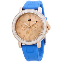 Tommy Hilfiger Tara Rose Gold Dial Silicone Strap Ladies Watch...